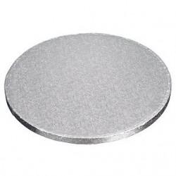Cake Board round silver cm...