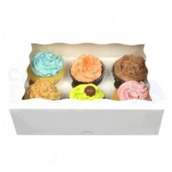 Boîte à cupcakes blanche,...