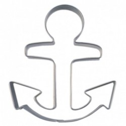 Anchor cookie cutter, 9 cm