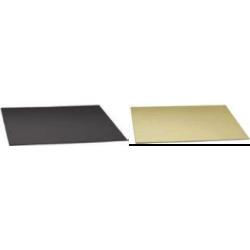 Planche dorée/noire carrée,...