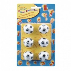 Soccer candle set 6 pieces