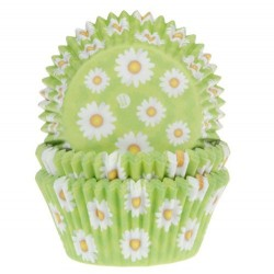 Baking Cups daisy, 50 pieces