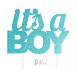 Topper It's a boy blue glitter