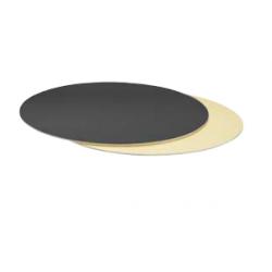 Planche dorée/noire ronde,...
